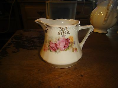 Beautiful Antique Creamer Made In Germany #34 Roses Gold Trim