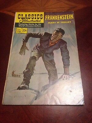 CLASSICS ILLUSTRATED FRANKENSTEIN  MARY  W. SHELLEY  No.26 (1971)