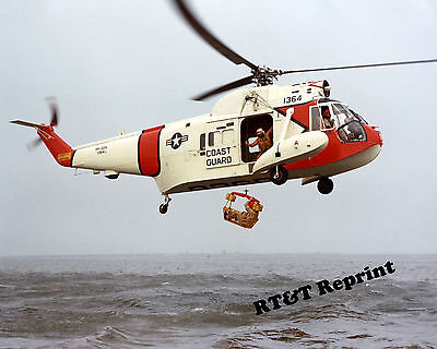 Photograph US Coast Guard Sikorsky HH-52 Seaguard Rescue Helicopter 8x10