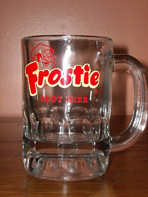 Vintage Frostie Root Beer Heavy Glass Drinking Mug ~ Anchor Hocking