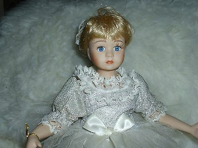 Collectible Doll Fine Bisque Porcelain Ballerina Doll W/shoes, Stand 1/10,000