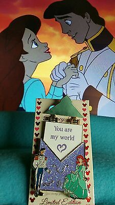 Disney 2016  Pin Of Month LOVE LETTERS LITTLE MERMAID  ARIEL AND ERIC LE Pin