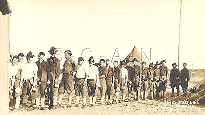 WWI Original 1919 Army AZO RPCC- Soldiers- 36th CO Mess Hall- Fort Monroe VA