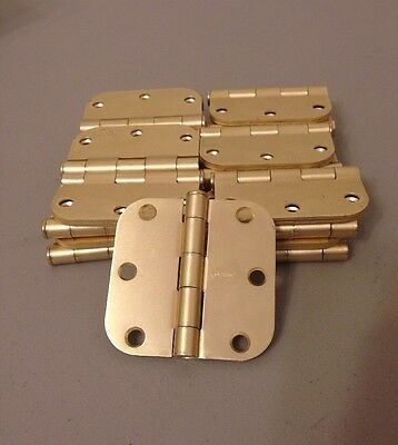 Set Of 25 Stanley 3in Hinges In Brass. Free Fast Shipping