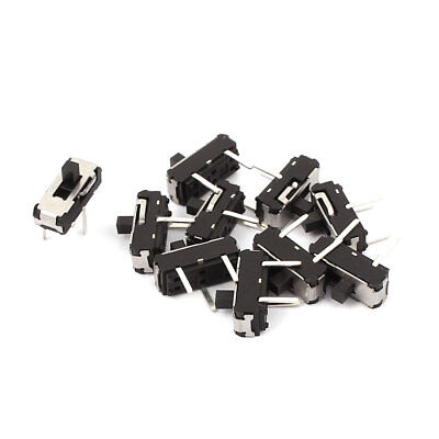 10 Pcs 2 Position Straight 3P SPDT Micro Slide Switch Latching Toggle Switch