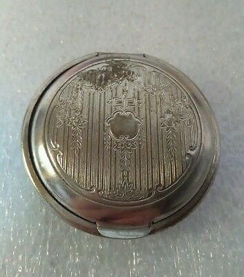ANTIQUE Beautiful PAT 1924 Victorian Woman's Mini Compact Mirror