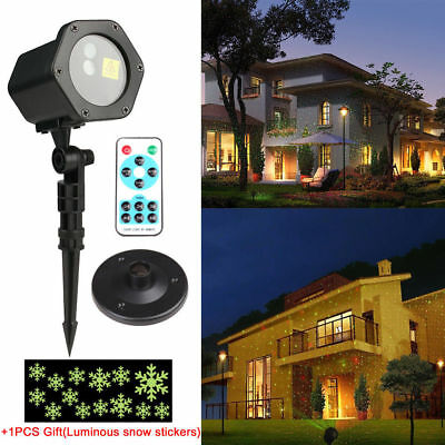 Moving R&G LED Outdoor IP65 Landscape Laser Projector Lamp Garden Xmas Light HOT