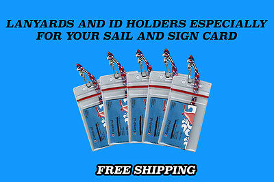 5 Carnival Cruise Lines I.D. Holders & Lanyards ZIP LOCK SEALED  NEW