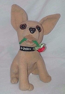 """Yo Quiero Taco Bell"" Tan Colored Chihuahua Plush Toy Vintage 1997"