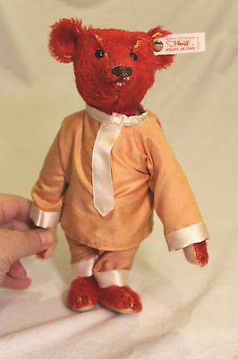 """STEIFF Red Mohair 9"""" Baby ALFONZO Limited Edition No.: 653773 ~ 1995 #00290/5000"""