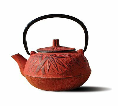 Old Dutch Cast Iron Osaka Teapot, 20-Ounce, Red
