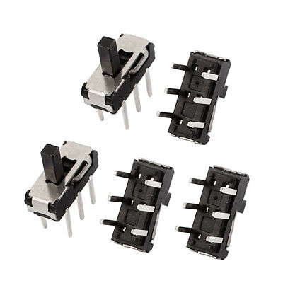 5 Pcs 2 Position Straight 6P DPDT Micro Slide Switch Latching Toggle Switch