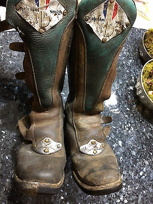 Vintage Classic Malcolm Smith motocross boots Leather HiPoint Alpinestars AHRMA