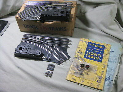Vintage Boxed Pair of No. 1122 Non-Derailing 027 Lionel Train Switches