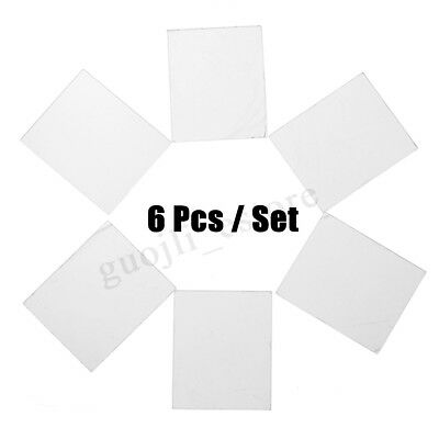 6 Packs Clear Acrylic Blocks Stamping Rubber Plexiglass Thin Pads Card Craft 5mm