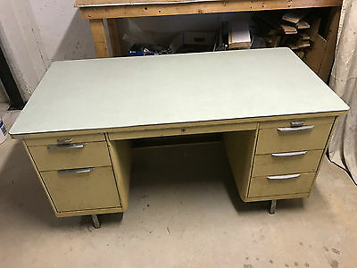 Vintage Tanker Desk with Chair