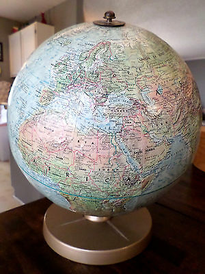 Vintage Replogle Globe Land and Sea 12""