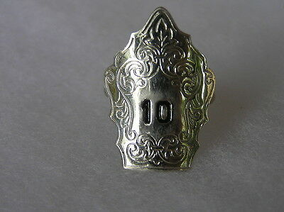 Early Fire Department Neckerchief Slide Ring #10
