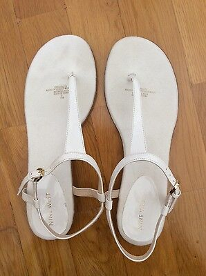 Nine West white sandals size 10