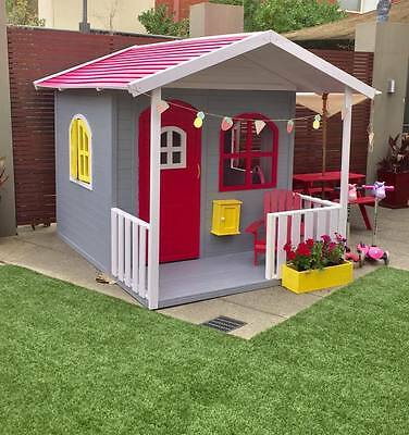 Kids Childrens Cubby House Billie Outdoor PlayHouse Timber Wooden188cm High