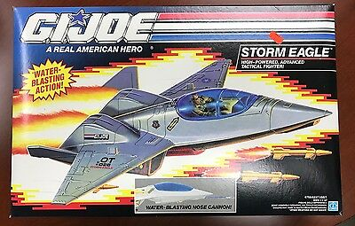 Vintage 1991 GI Joe MISB Storm Eagle Tactical Fighter Jet w/ Water Cannon