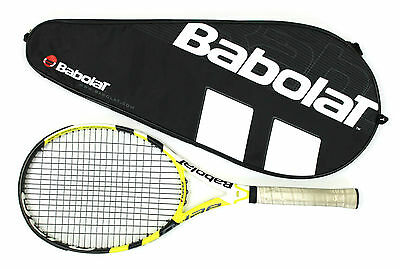 "Babolat AeroPro Drive+ Cortex Nadal 4 5/8"" Grip Tennis Racquet with Bag"