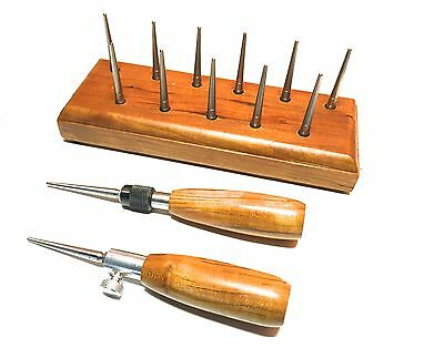 Long Pin Bassoon Drying Rack/FREE Handle-10+1 HEX based REMOVABLE Pins- CHERRY