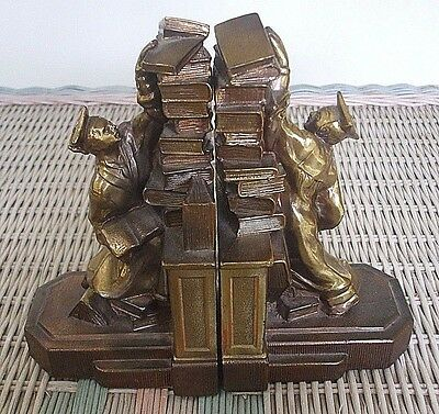 "Nice Pair of 1930's Dodge ""Hold Those Books"" Bookends - Graduation Gift"