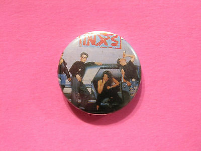 Inxs Vintage Button Badge Pin Uk Import