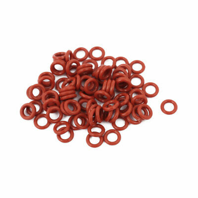 100pcs 1.5mm Thick Heat Oil Resistant Mini O-Ring Rubber Sealing Ring 7mm OD Red