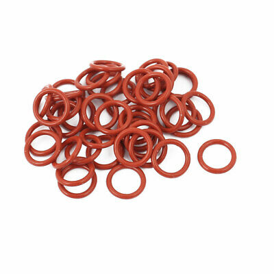 40pcs 1.5mm Thick Heat Oil Resistant Mini O-Ring Rubber Sealing Ring 11mm OD Red