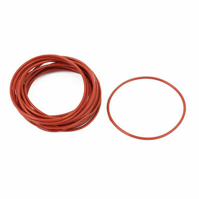 20pcs 1.5mm Thick Heat Oil Resistant Mini O-Ring Rubber Sealing Ring 45mm OD Red