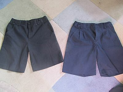 Lot 80 - 2 Pairs School Uniform Shorts - Size 10 Unisex