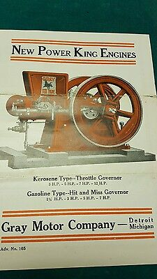 Gray Gas Engine Literature Hit and Miss