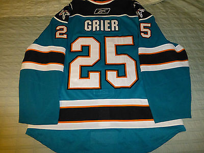 Mike Grier San Jose Sharks Game Worn Jersey