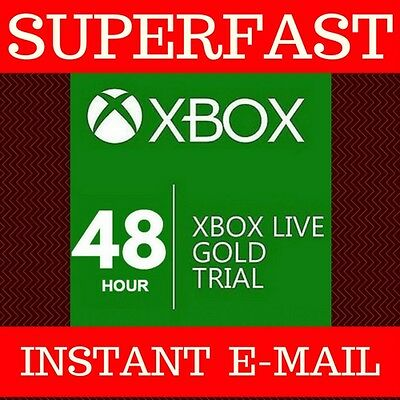 2 Day Xbox Live - 48 Hour Gold Trial Code Card For 360 And One - 48Hr 2 Days