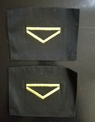 Lot of 2 set of  New Army military ranks for uniform