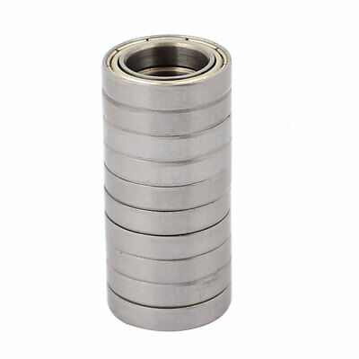 Metal Shielded Sealed Low Speed Deep Groove Ball Bearing 15mmx24mmx5mm 10pcs