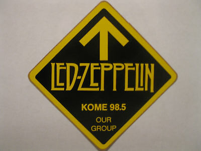 """KOME 98.5 FM - Decal / Sticker - """"LED ZEPPELIN"""" - New - Limited Edition - RARE!"""