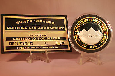 Great Pyramids Of Egypt Silver Stunner Coin - Limited Edition 500 Released