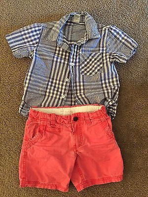 Boys Summer Outfit Size 4 (shorts and shirt)