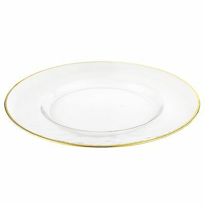 Elegance-31121-13-Inch Gold Rim Glass Chargers (Set of 4)