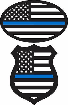 (2 Pack)*blue Lives Matter Flag Stickers  Police Decal Window Bumper