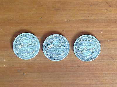 3x 1927 Parliament House Florins Almost EF Coins