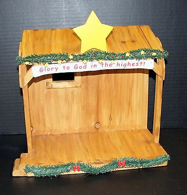 Really Woolly Pageant Wood Stage Manger Nativity By Day Spring Cards 2005 #34153