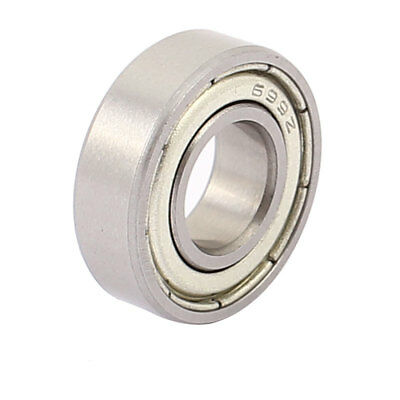 Metal Mute Deep Groove Sealed Shielded Ball Bearing Silver Tone 9mmx20mmx6mm