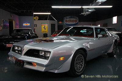 1977 Pontiac Trans Am PHS Documented IMMACULATE CONDITION, #'s Match, LOW MILES, Sterling Silver/Firethorn Red