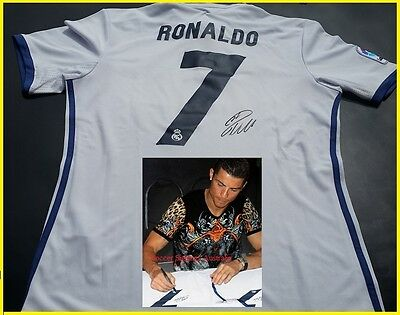 Cristiano Ronaldo Personally Hand Signed Real Madrid Jersey 2016 Plus Proof