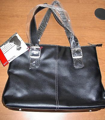 Solo Classic Collection Womens Black Laptop Bag Tote Briefcase NWT