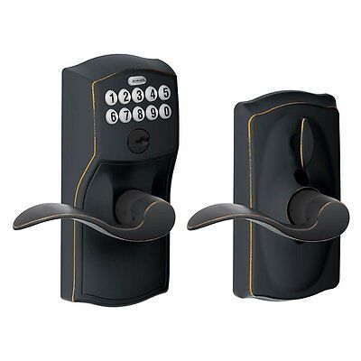 Schlage FE595 CAM 716 ACC Camelot Keypad Entry with Flex-Lock and Accent Levers,
